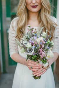 anemone-and-wildflower-boho-wedding-bouquet